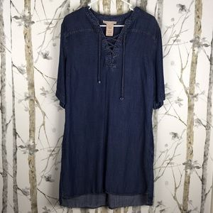 Philosophy Denim Dress, Size Large